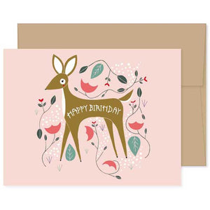 Fawn Birthday Card
