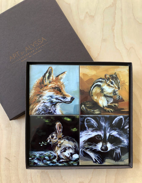 Woodland Animals Coaster Set