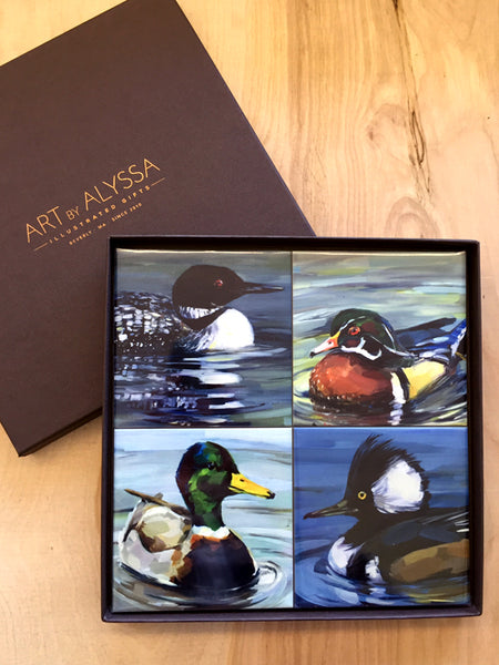 Waterfowl Coaster Set