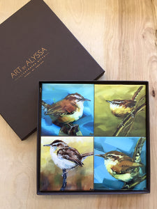 Wrens Coaster Set