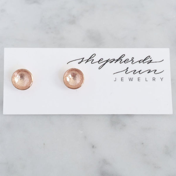 Rose Gold Cup Studs