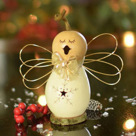 Julia Angel Gourd Ornament