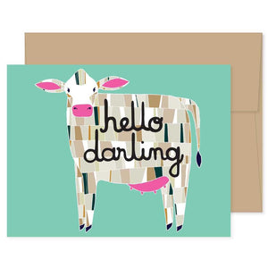 Cow Barnyard Card