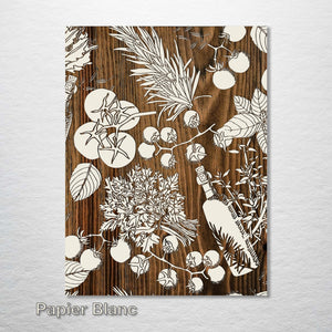 Kitchen Wooden Engraving Cream