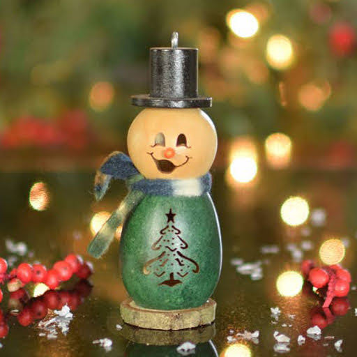 Evergreen Snowman Gourd Ornament