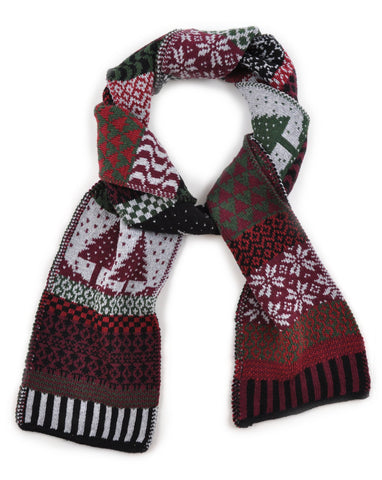 Knit Scarf - Poinsettia