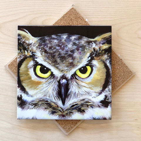 Great Horned Owl Trivet