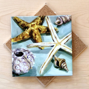Shells on Seaglass Trivet