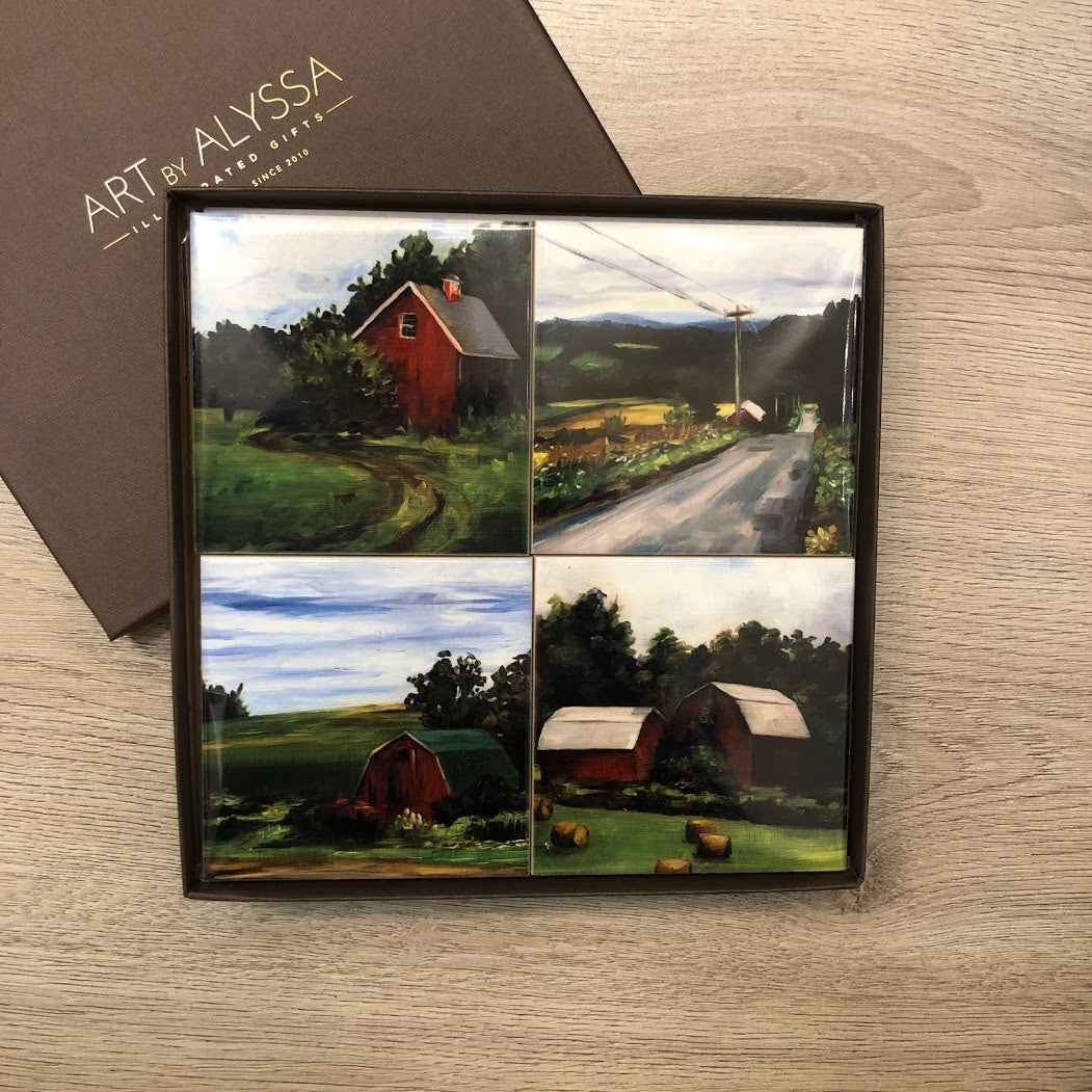 Barns Coaster Set