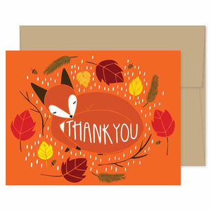 Fox Thank You Card