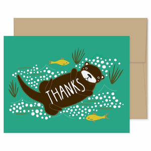 Otter Thank You Card