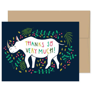 Rhino Thank You Card