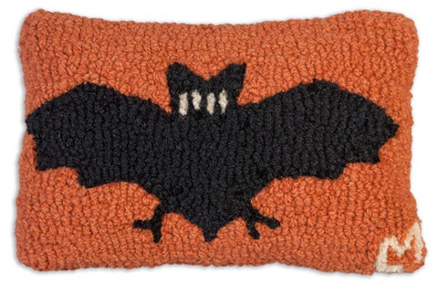 Halloween Bat Pillow 8x12""