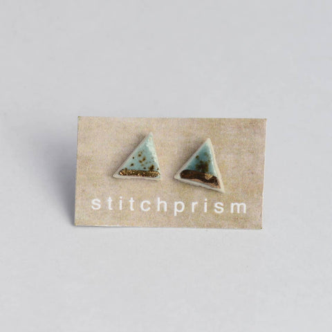 Triangle Stud Earrings Gold-Shipwreck
