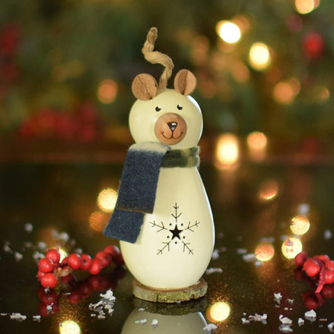 Dakota Polar Bear Gourd Ornament