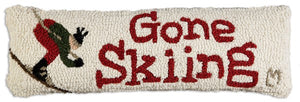 Gone Skiing Pillow 8 x 24""