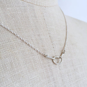 Sterling Silver Loveknot Necklace