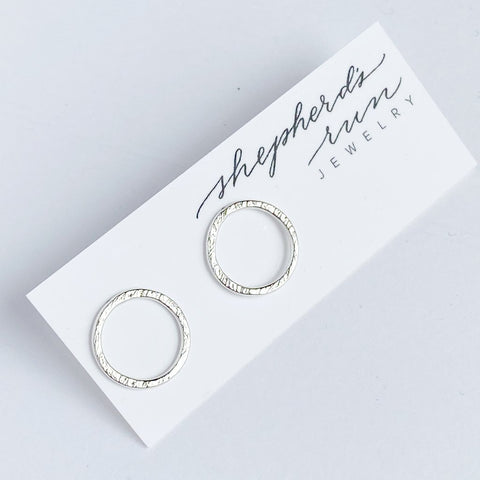 Sterling Silver Halo Studs