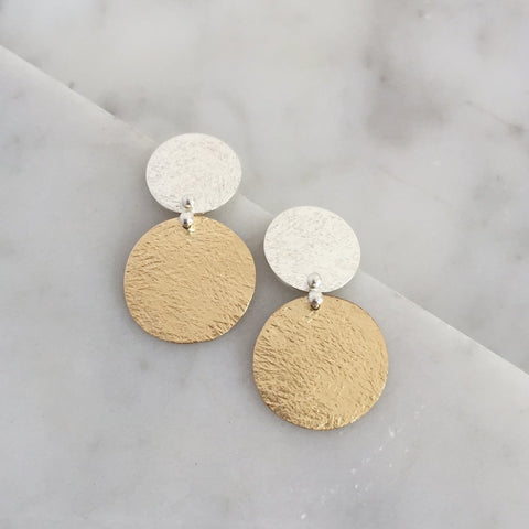 Buttoned Up Stud Earrings