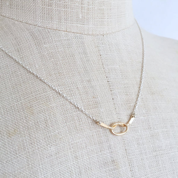 Gold Loveknot Necklace