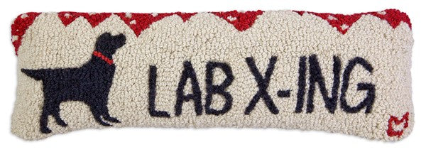 Lab Crossing Pillow 8 x 24""