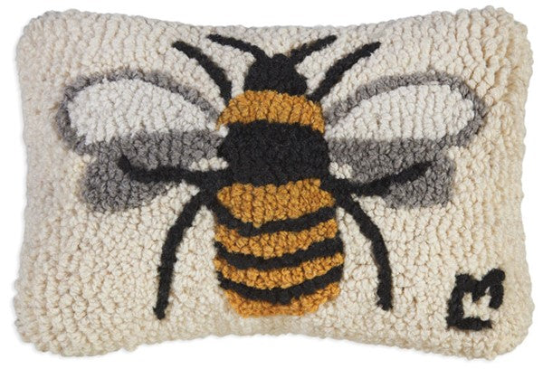 Lone Bee Pillow 8 x 12""