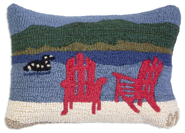 Loon Lake Chairs Pillow 14 x 20""