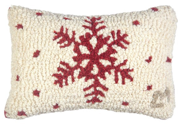 Red Flake Pillow 8 x 12""