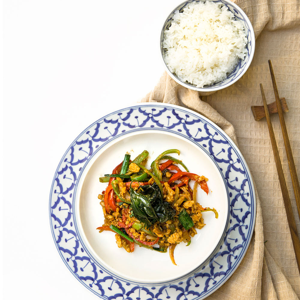 Stir-fried Hot Basil Chicken/Beef