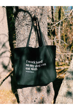"Load image into Gallery viewer, ""Work Hard, Eat Well"" Tote Bag"