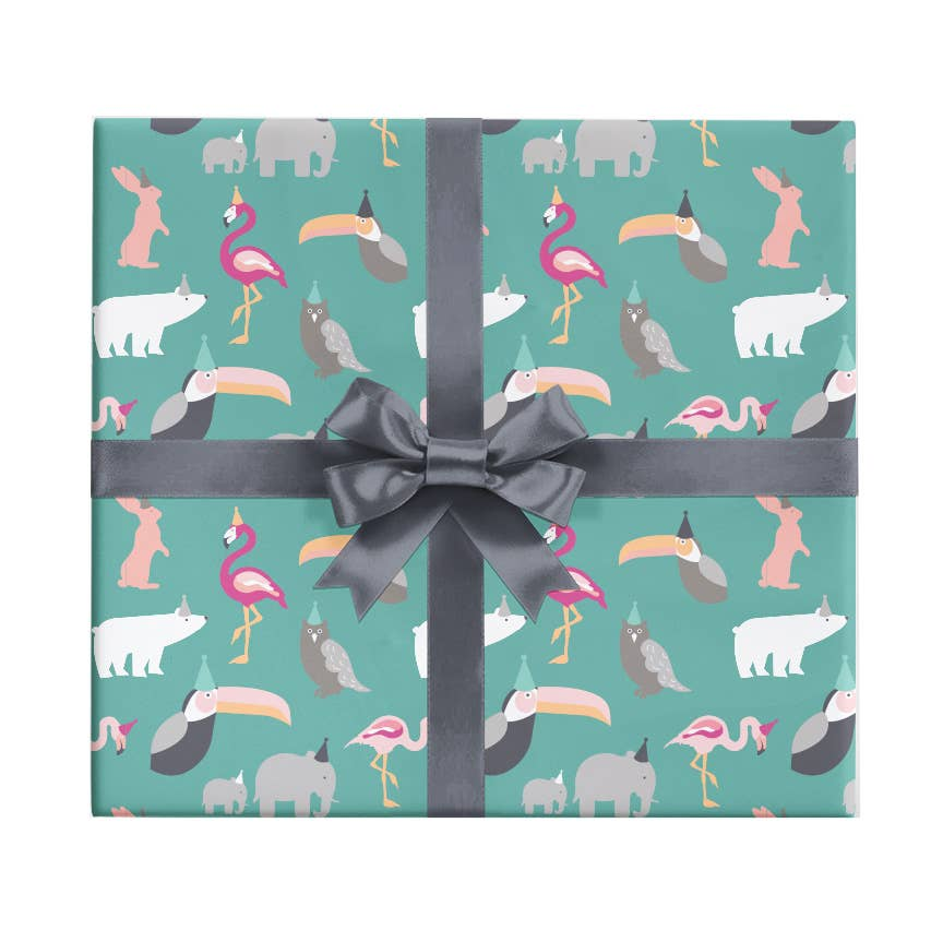 Party Animals Wrapping Paper Sheet