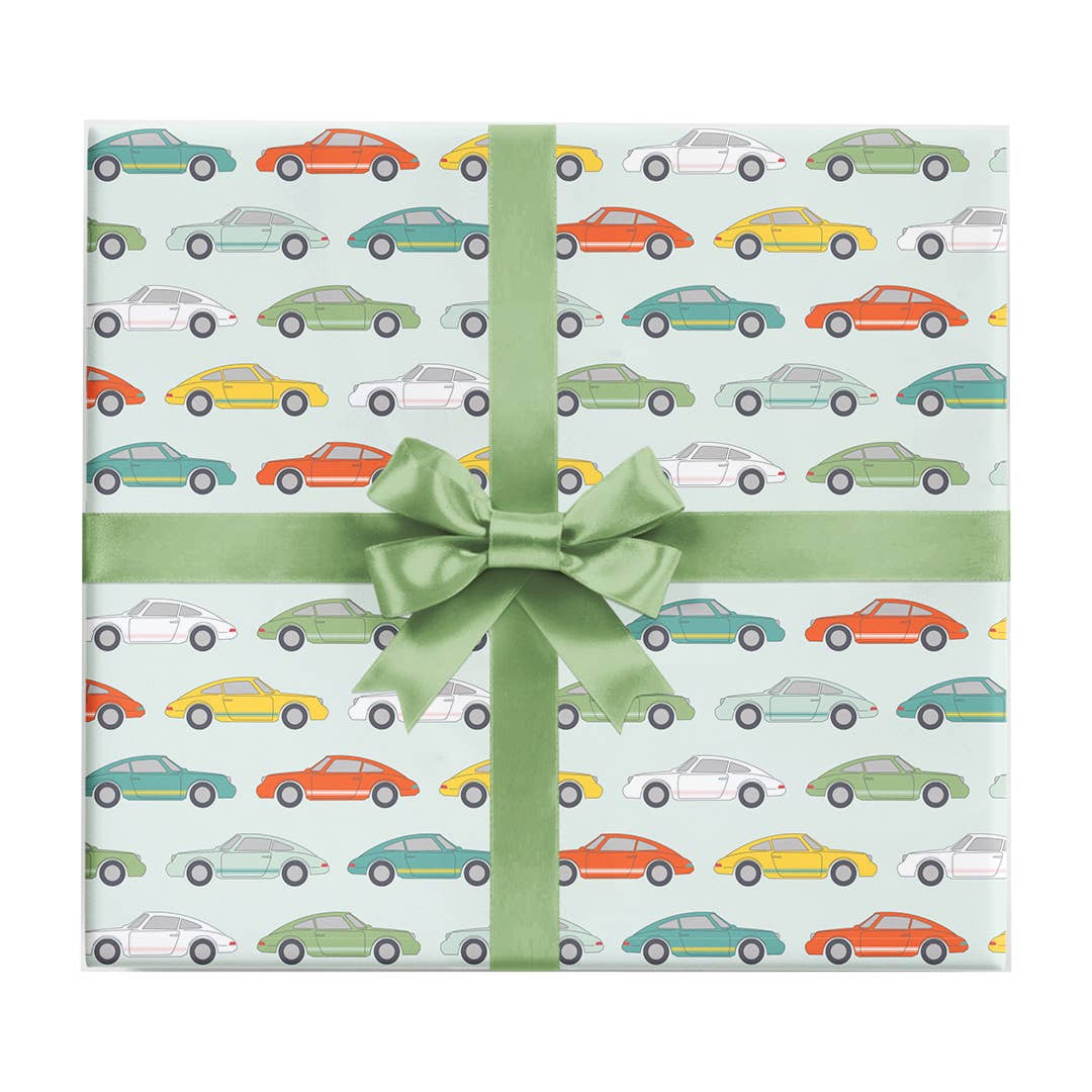 Vintage Sports Car Wrapping Paper Sheet