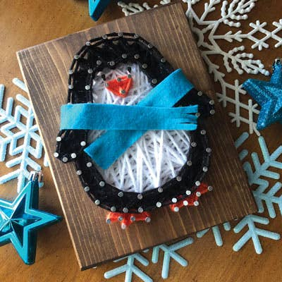Penguin Mini String Art Kit - DIY