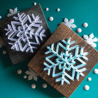 Snowflake Mini String Art Kit - DIY