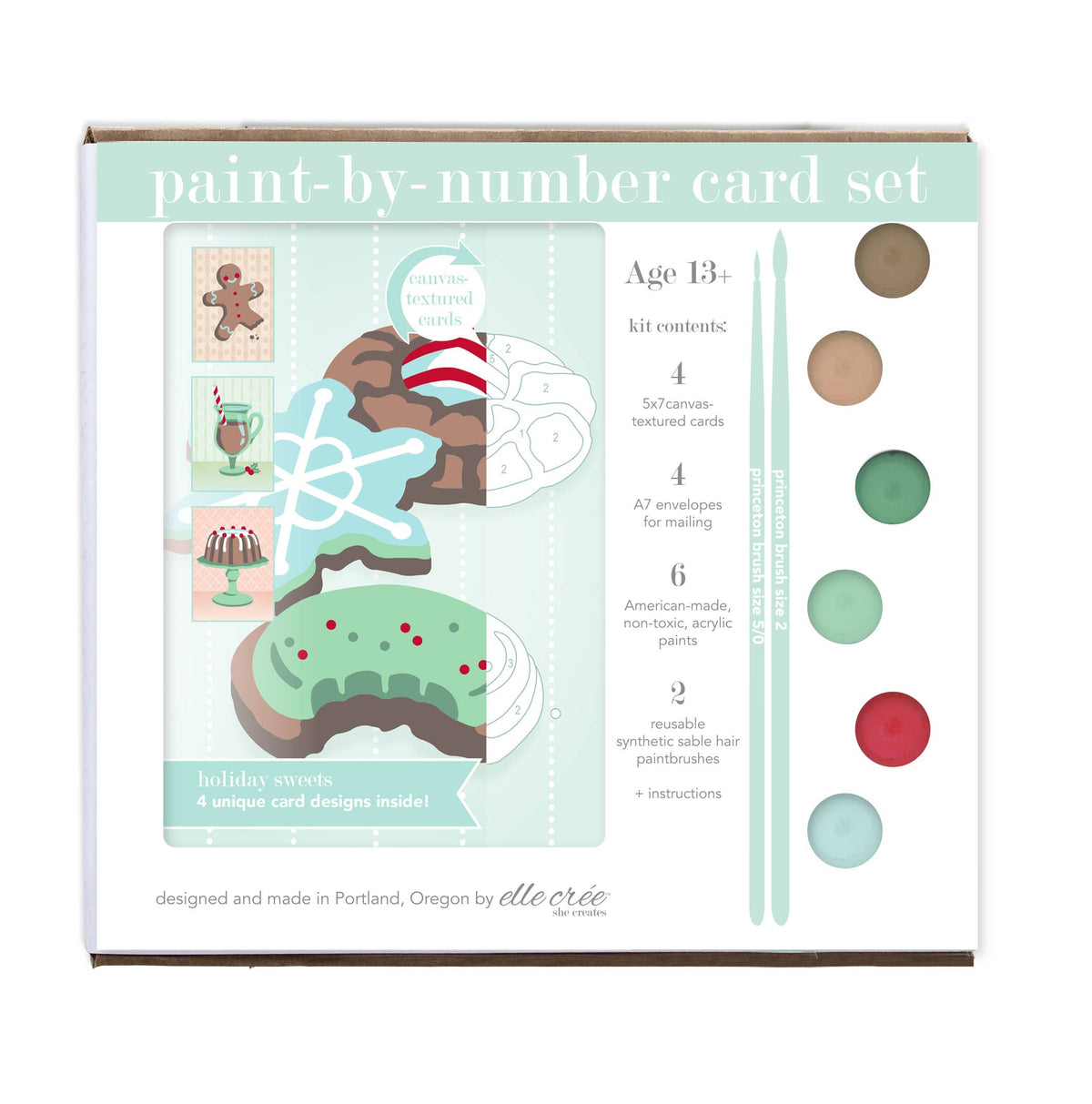 Paint-by-Number Card Sets - Holiday Sweets