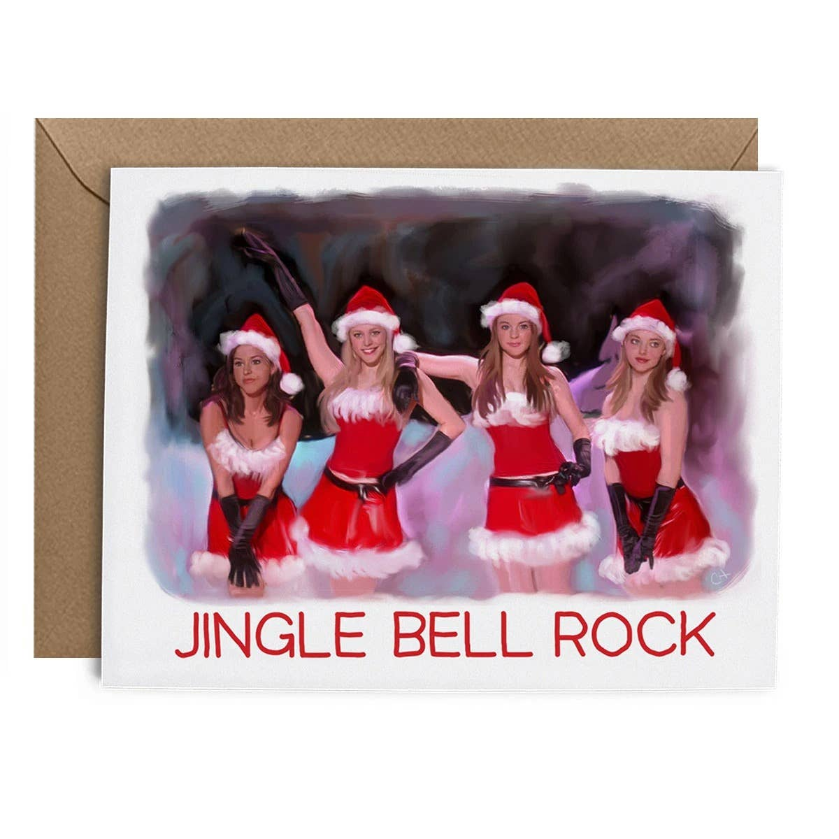Jingle Bell Rock Girls Card
