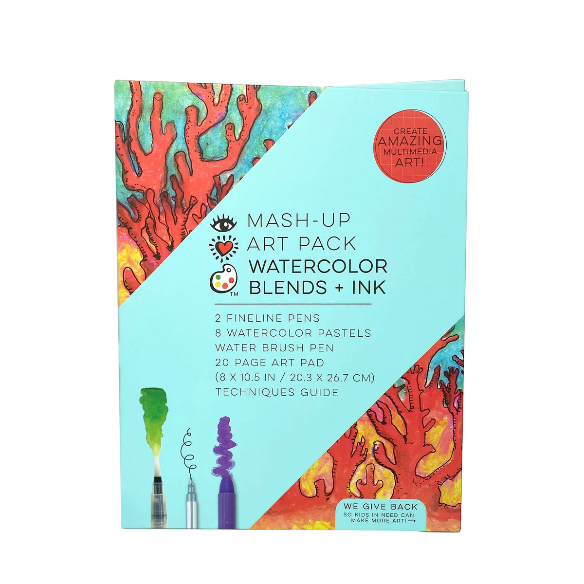 iHeartArt Mash-Up Art Pack Watercolor Blends + Ink
