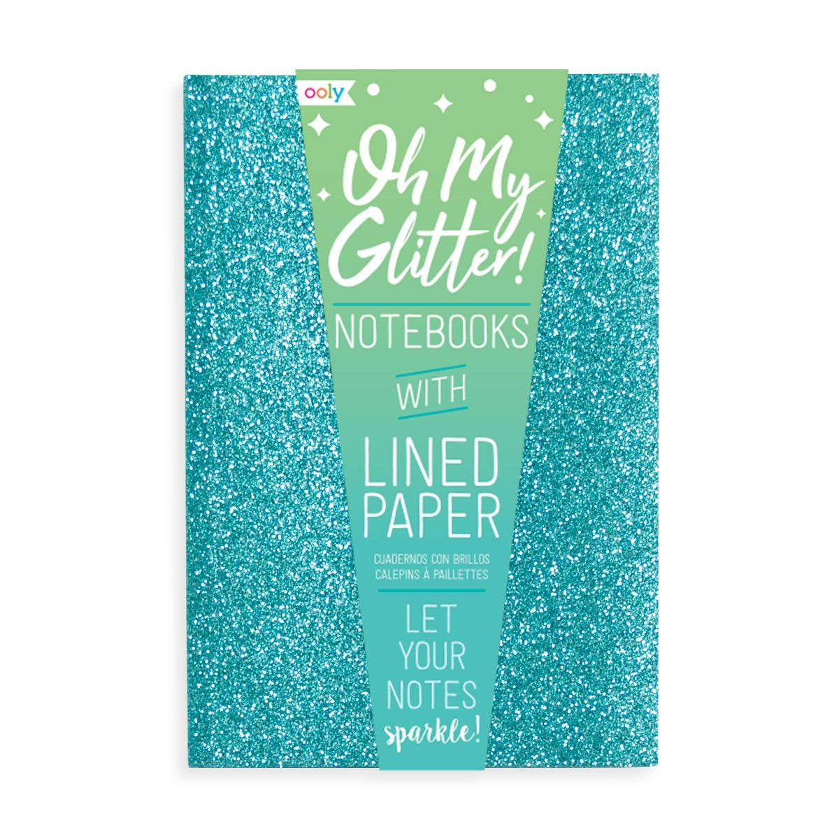 Oh My Glitter! Notebooks: Aquamarine & Sapphire - Set of 3