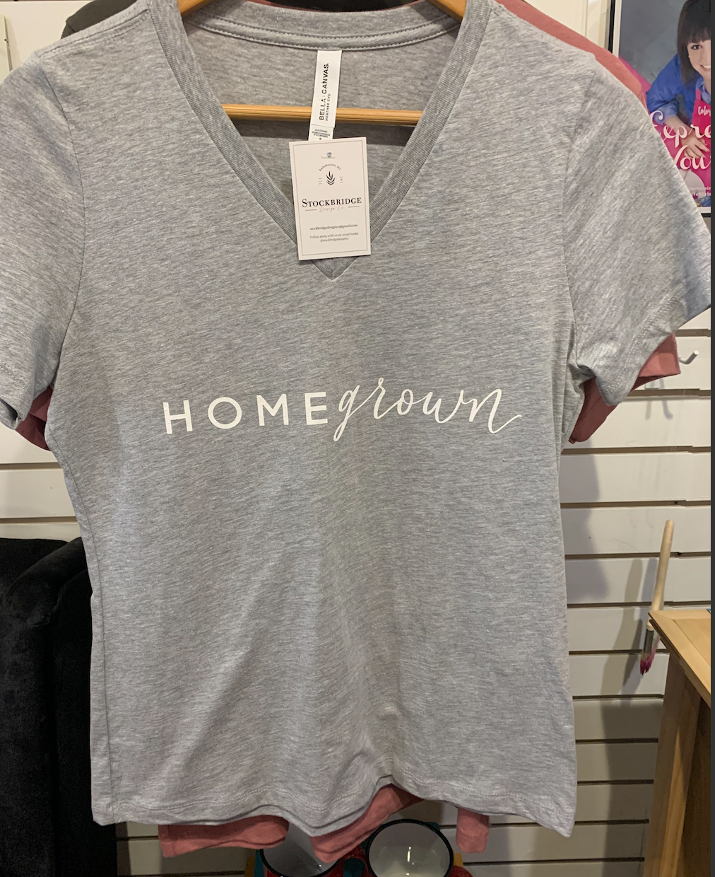 Stockbridge Gray Short-sleeve 'Homegrown' T-shirt