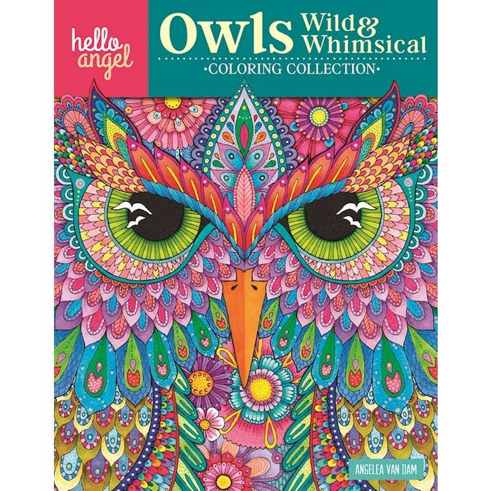 Wild & Whimsical Owls Coloring Book