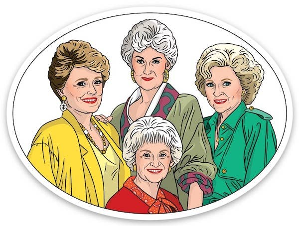 Golden Girls Die Cut Sticker