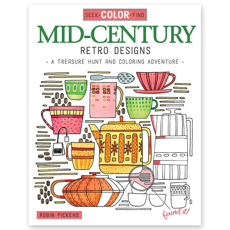 Seek & Find Retro Coloring Book