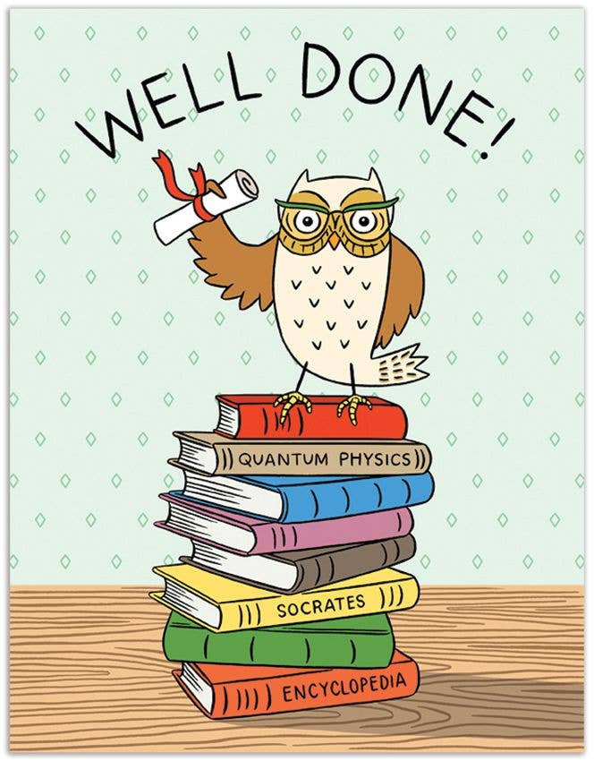 Grad Owl Well Done Card