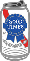 Good Times Beer Die Cut Sticker