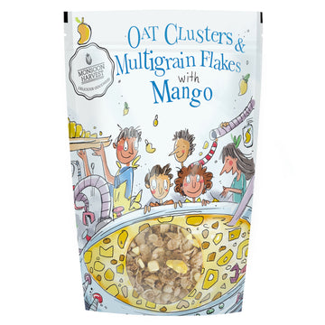 Breakfast Cereal: Oat Clusters & Multigrain Flakes with Mango