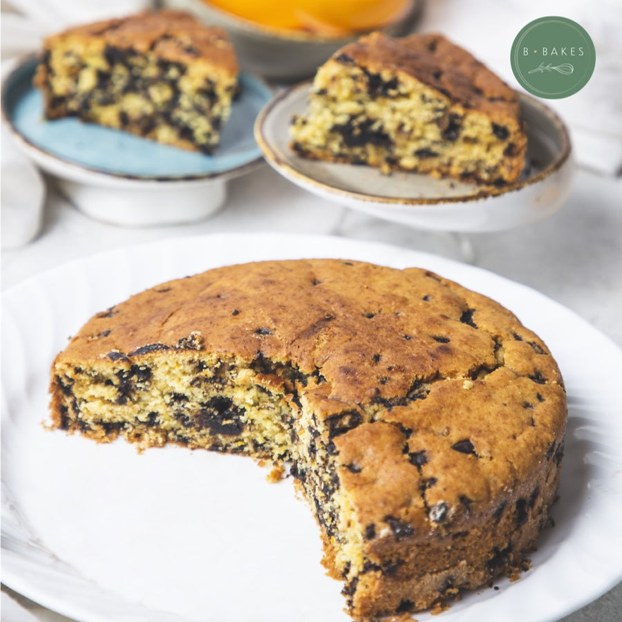 b-bakes-whole-wheat-orange-chocolate-chip-cake