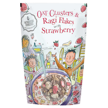 Breakfast Cereal: Oat Clusters & Ragi Flakes with Strawberry