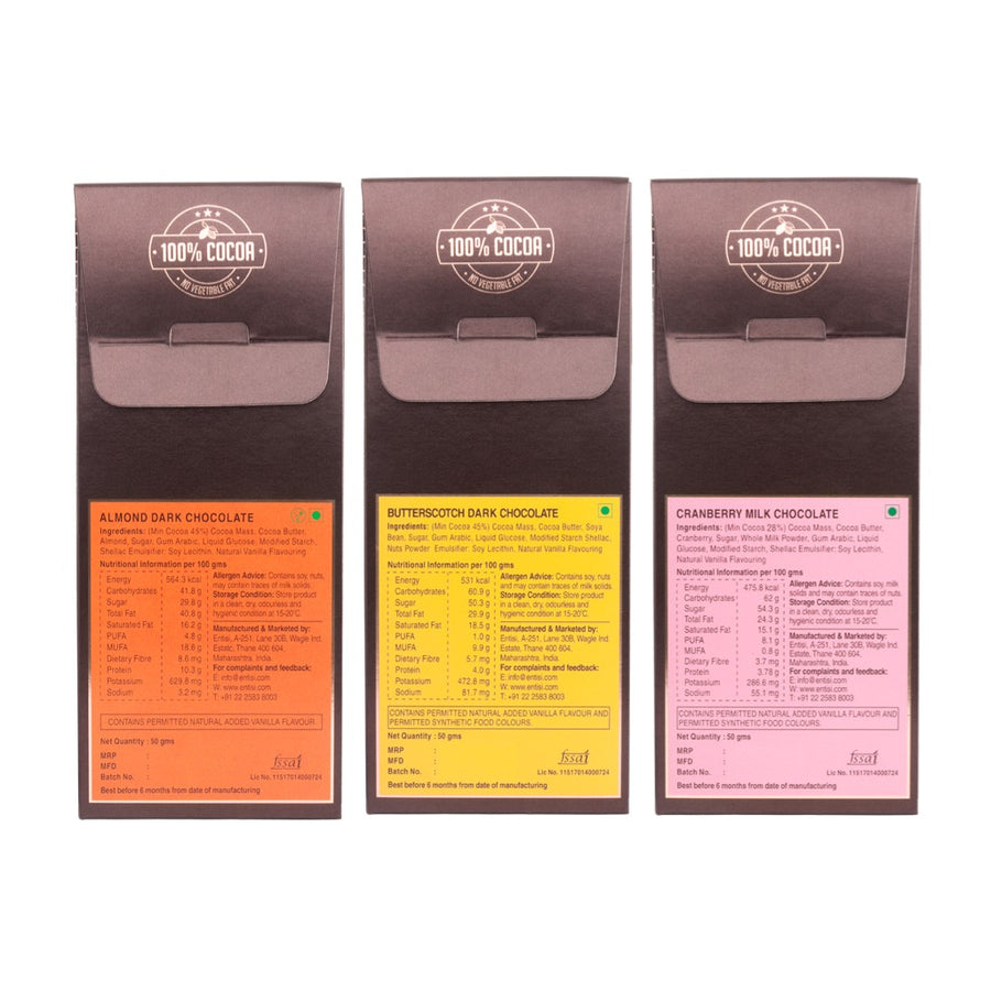 Pack of 3 Dragees (Almond, Cranberry, Butterscotch)