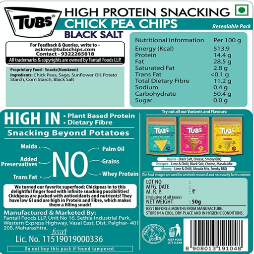 tubs-high-protein-chickpea-chips-black-salt-nutritional-contents