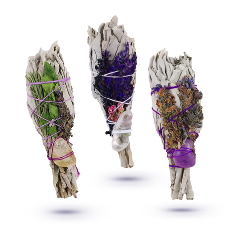 Chakra Healing Crystal Sage + Lavender Collection